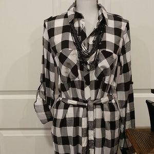 Nygard black & white medium dress